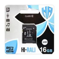Карта памяти Hi-Rali 16gb (UHS-1) 10 Class +адаптер