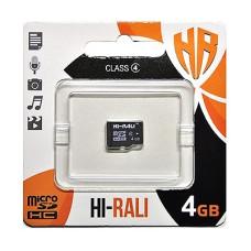 Карта памяти Hi-Rali 4gb 4 Class