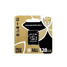 Карта памяти Hi-Rali 128gb (UHS-3) 10 Class +адаптер