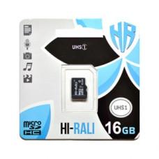 Карта памяти Hi-Rali 16gb 10 Class (UHS-1) (без адаптера)