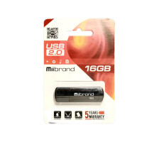 USB флеш Mibrand Grizzly 16GB 2.0 (Гарантия 12 мес.)