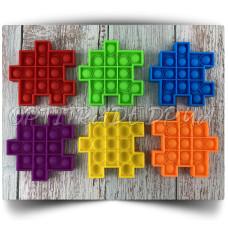 Игрушка антистресс Pop It (Поп Ит) пузырчатая Пазлы (набор 6 шт.) 10x10 см.