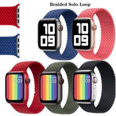 Силиконовый монобраслет Apple Braided Solo Loop для Apple watch 38/40mm (L) 160mm