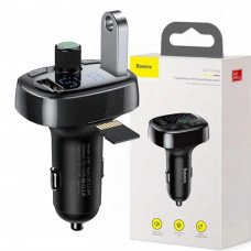 """FM модулятор Bluetooth """"Baseus Typed MP3"""" Charger with car holder (2USB, 2.4A+1A)/CCTM-01"""