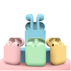 Наушники Bluetooth AirPods 12 Macaron +Touch +Pop Up