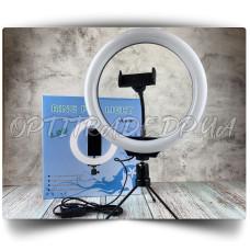 Кольцевая светодиодная Led Лампа 26 см. LC666 с зажимом для телефона на штативе
